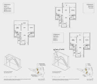 Mon Jervois 2 Bedrooms Floor Plans