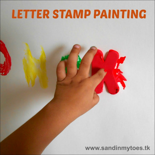Painting with letters for a learning activity that's fun!