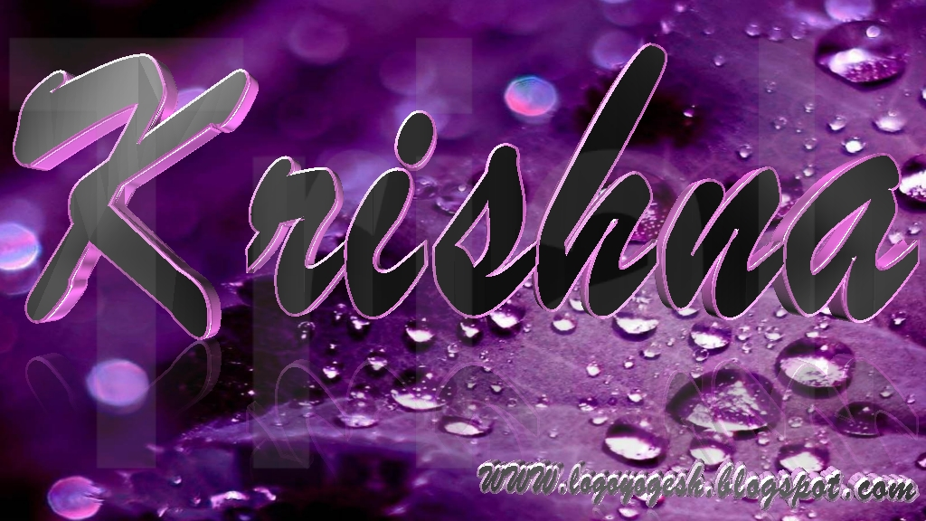 Gallery images and information: Krishna Name Wallpaper