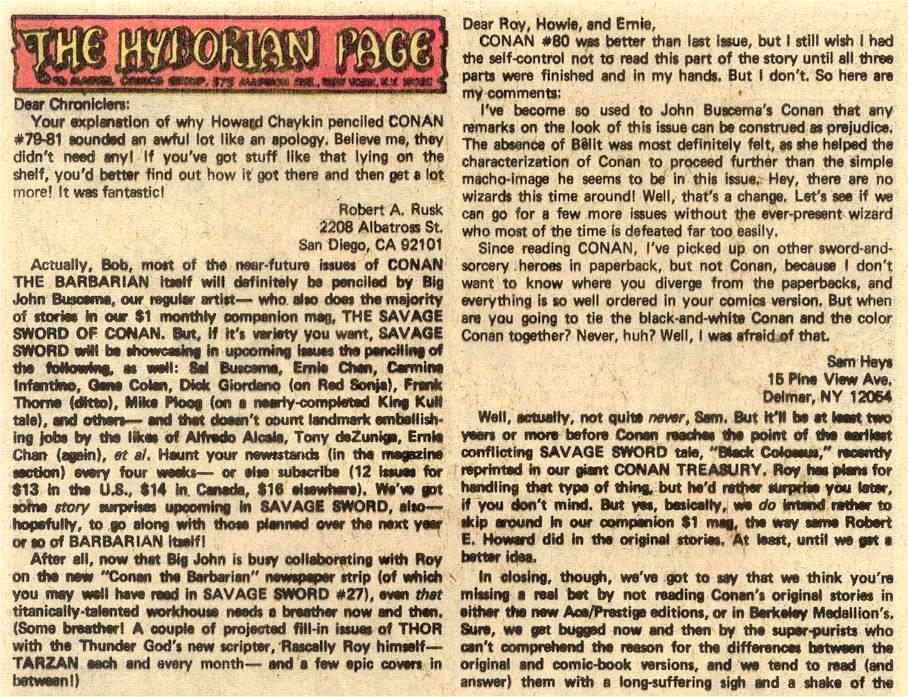 Conan the Barbarian (1970) Issue #85 #97 - English 21