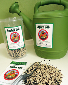 Gopher Goo, Trowel, and Watering Can