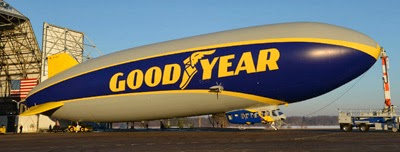 At 246 feet long, The Goodyear Tire & Rubber Company's newest blimp is 54 feet longer than its predecessor.