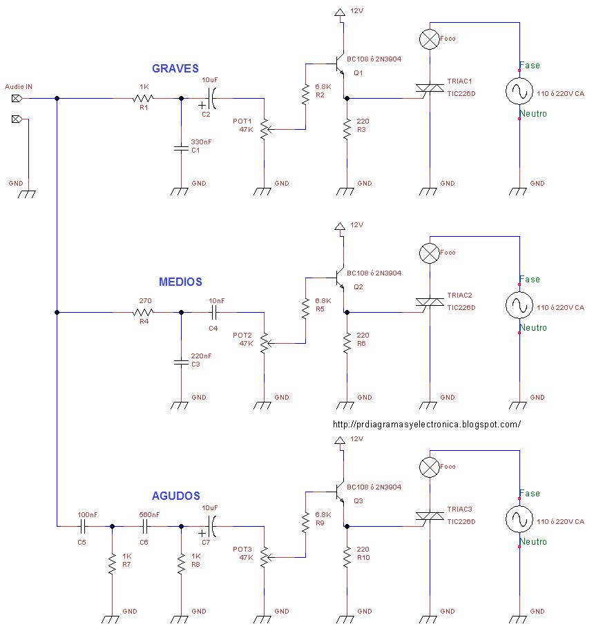 Circuito Luces Audioritmicas : Ayuda circuito de leds audio ritmicos taringa