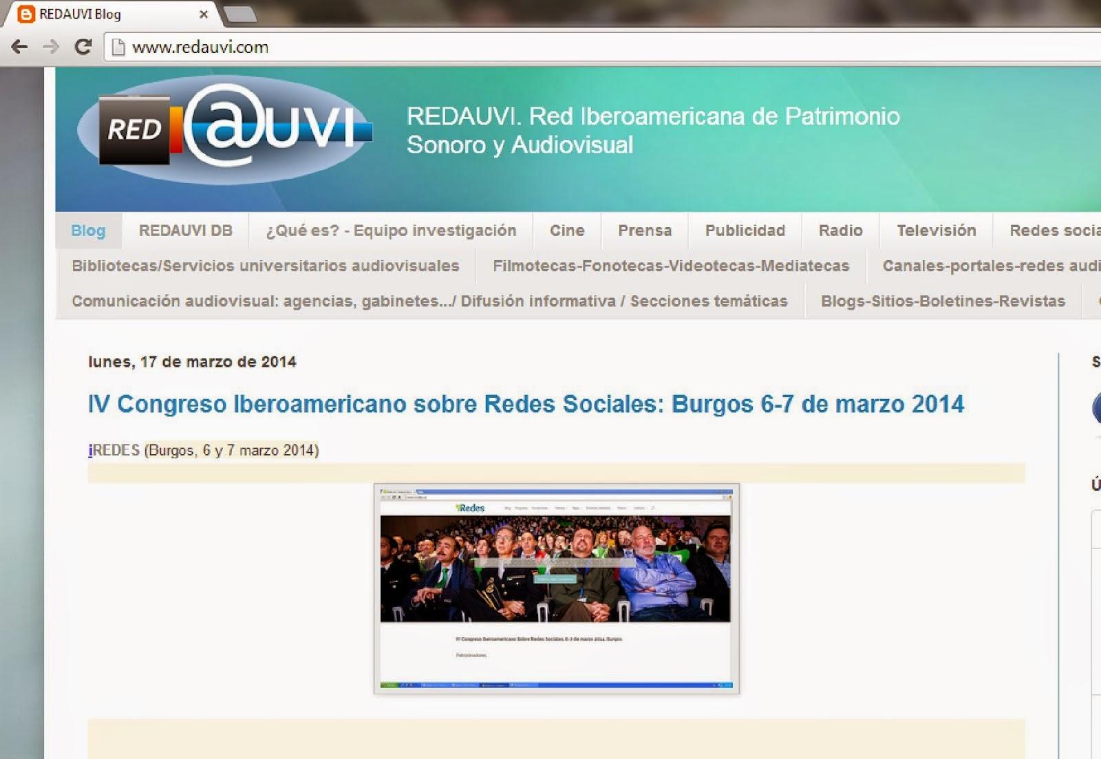 Redauvi: Red informativa de patrimonio audiovisual