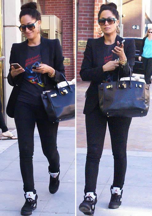 Adrienne Bailon Wearing Jordans
