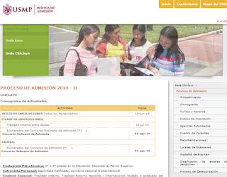 Resultados exámen admision USMP SEDE CHICLAYO 2014 2