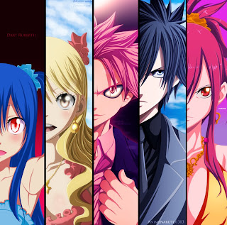 Fairy Tail Anime Wendy Marvel Lucy Heartfilia Natsu Dragneel Gray Fullbuster Erza Scarlet HD Wallpaper Desktop PC Background