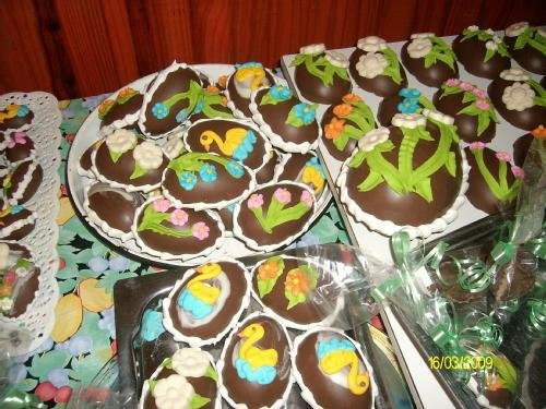 Produccion de huevos de chocolate