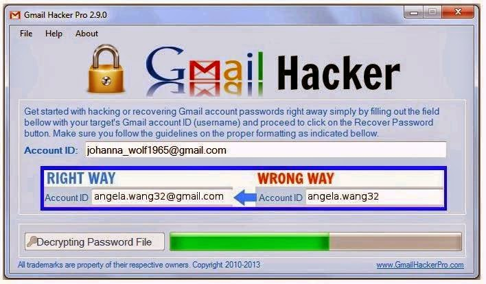 Gmail Hacker Pro v 2.9.0 activation code.product key.activation key and key