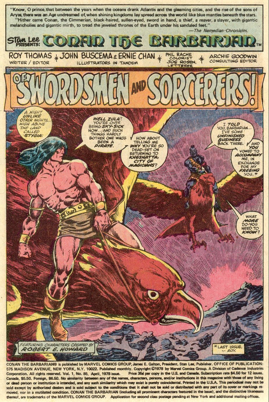 Conan the Barbarian (1970) Issue #85 #97 - English 2