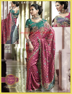 heavy work designer party wear saree collections