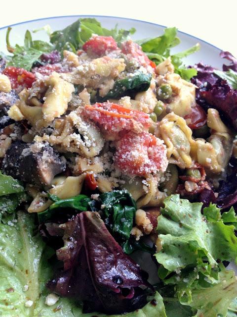 Warm Tortellini Salad