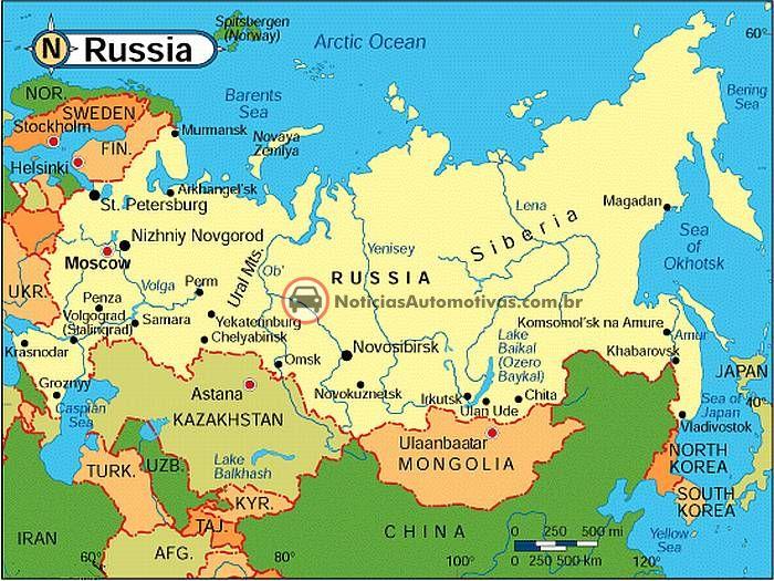 Mapa Mundi Russia Mapas