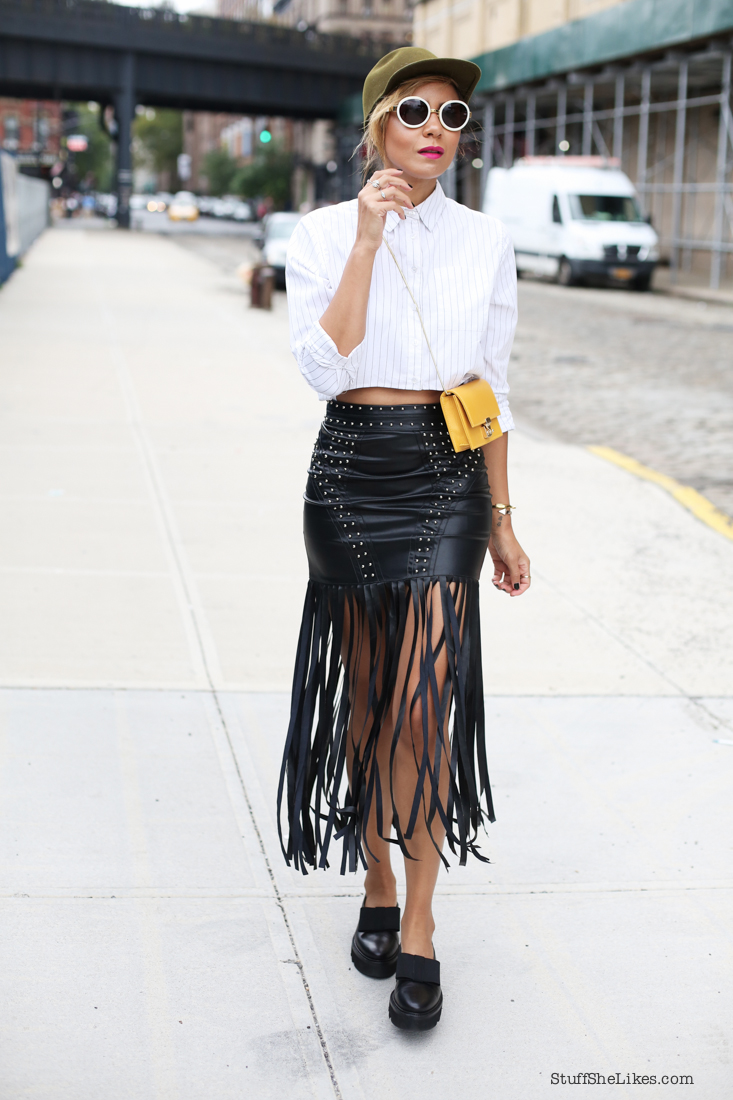 fringe skirt, faux leather, Guess, marciano, New York, Fashion Blogger, top fashion blogger, best fashion bloggers