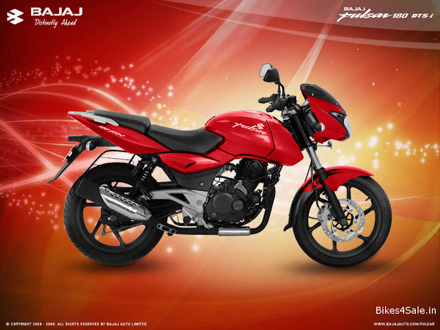 Pulsar 180 in red