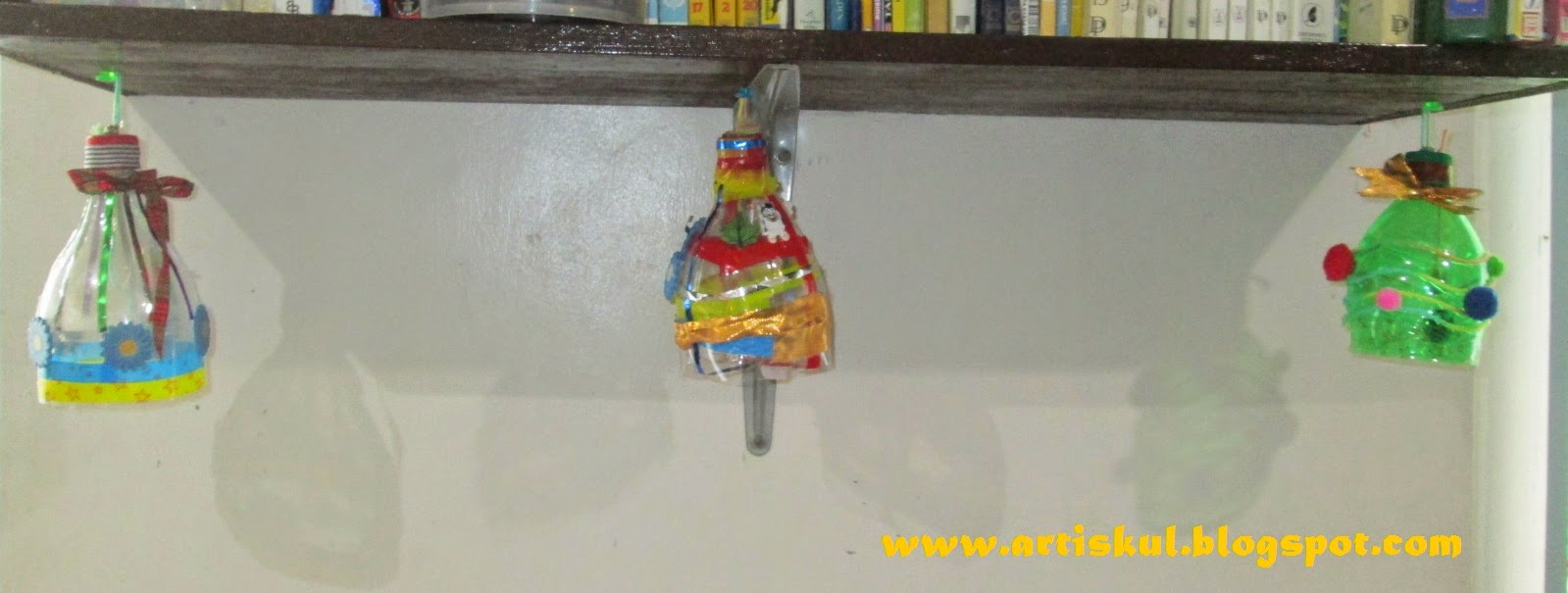 Art School: How to make Christmas Bells out of Plastic Bottles