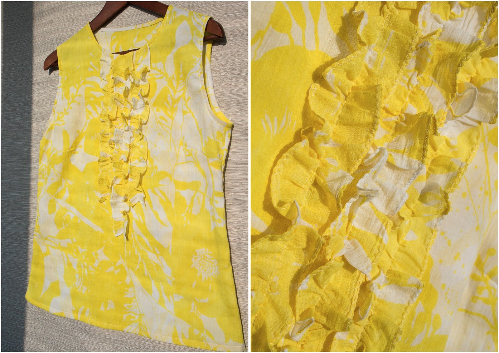Что можно сшить из желтой ткани 52