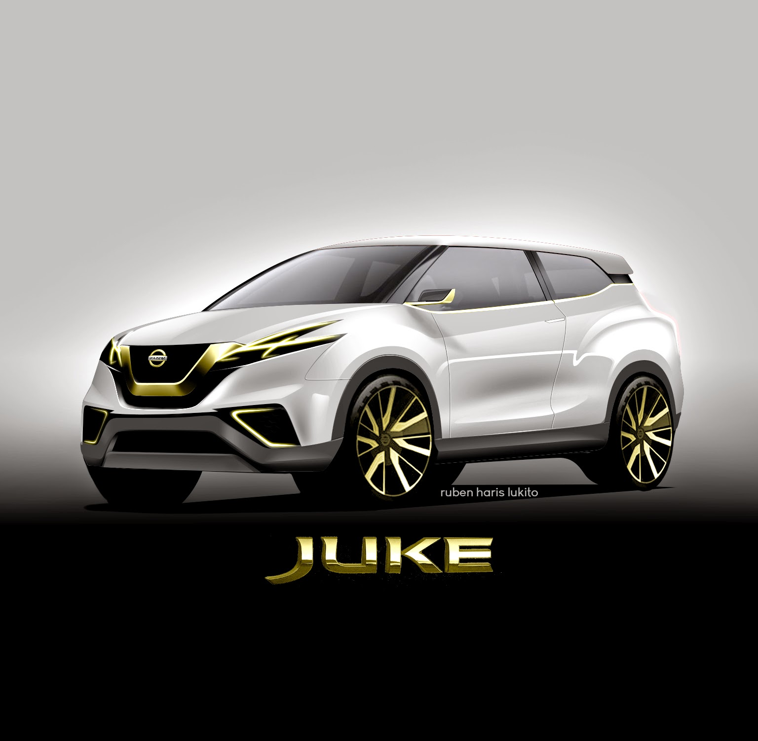 nissan juke 2016 concept gold edition car modification idea. Black Bedroom Furniture Sets. Home Design Ideas