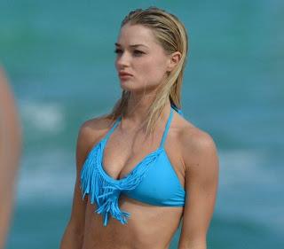 Emma Rigby, Emma Rigby Blue Bikini