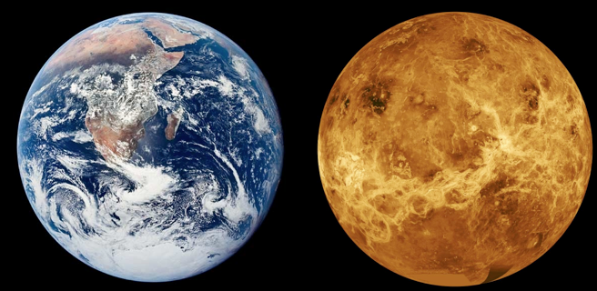an analysis of venus the planet Venus was created at about the same time as earth, in about the same place, and it's roughly the same size - it would therefore have started with the same materials as us, drawn together from the same region of the planet forming dust left over from the sun.