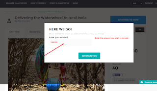 Delivering waterwheel contribution page