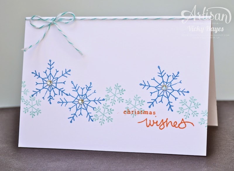 UK Stampin' Up demonstrator Vicky Hayes shows you how to make a one layer Christmas card using Endless Wishes