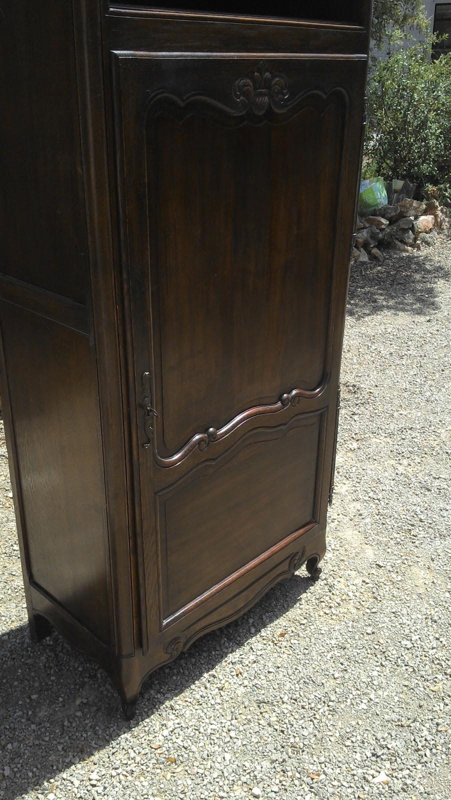 Ancien meuble armoire bonneti re pieds coquille a niche for Meuble bonnetiere