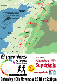 5 mile race on the stuning Beara Peninsula... Sun 10th Nov 2018