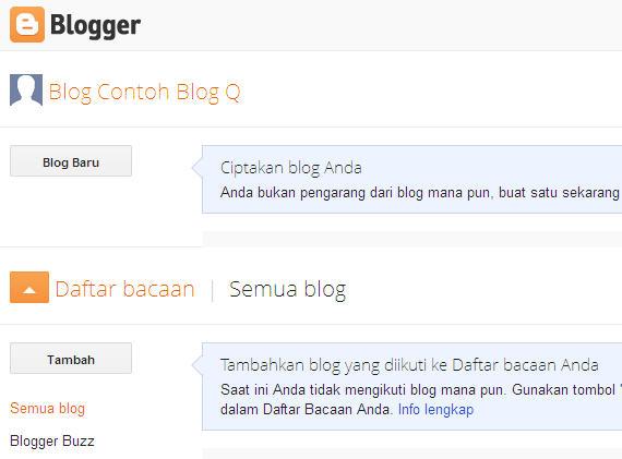 tahap membuat blog baru