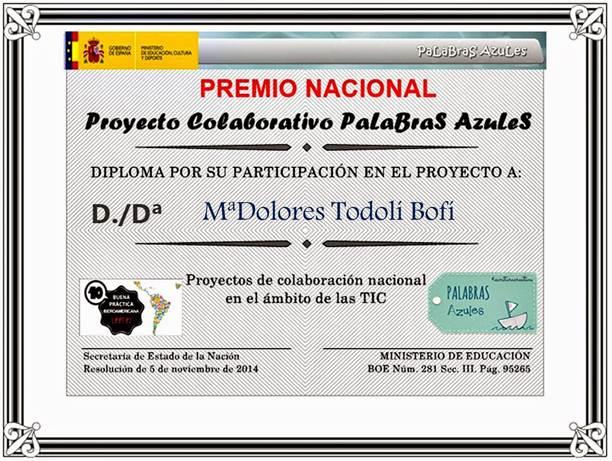 Premio Nacional de Educación  2.014