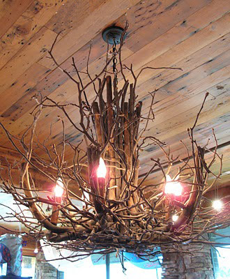 Rustic Ventures Twig Chandeliers