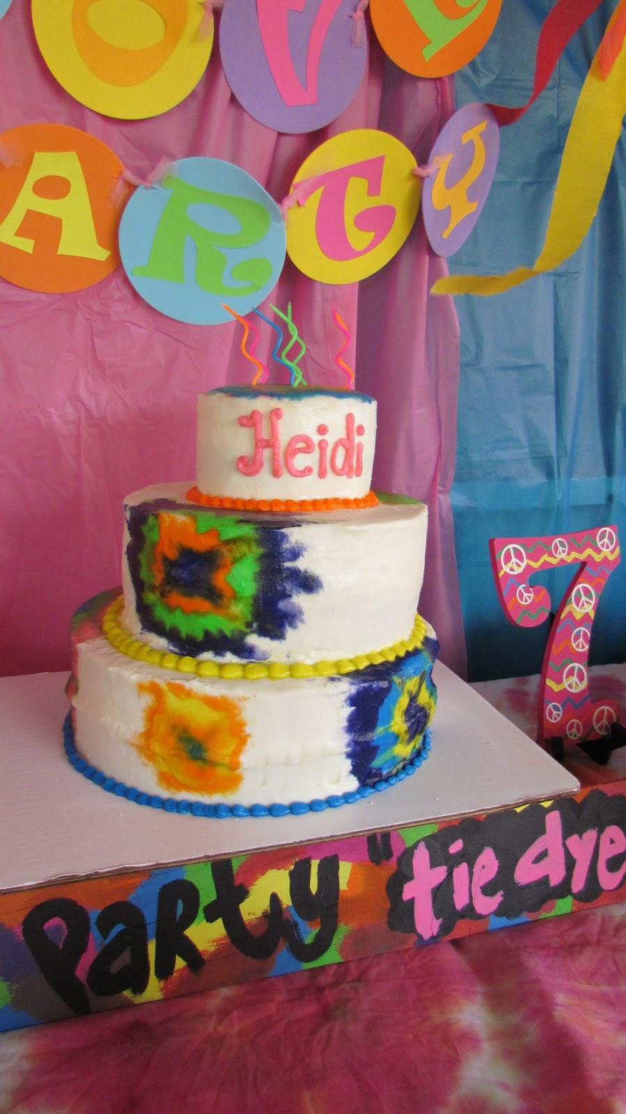 50th Birthday Balloon Tie Dye Hippie Theme Decorations