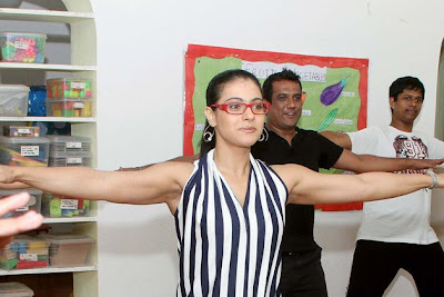 kajol dance lessons with the students hot images