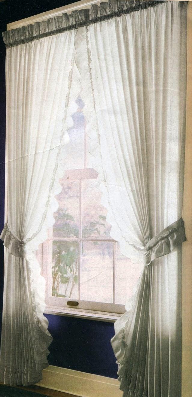 La casa de noa cortina con pasador americano - Cortinas con volantes ...
