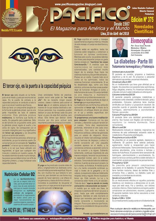 Revista Pacifico Nº 375 Novedades Científicas