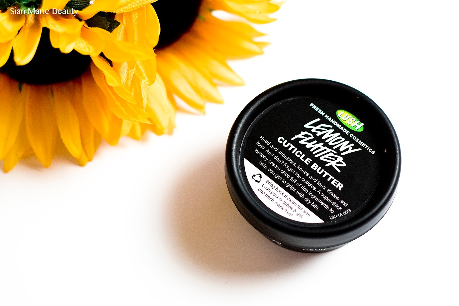 Lush Lemony Flutter Cuticle Review on Sian Marie Beauty