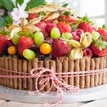 A Chocolate Cake With Summer Fruit...