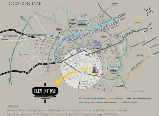 Satya Element One Location Map