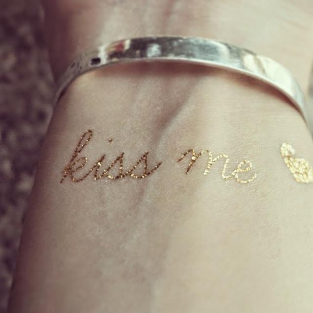 Gold paper tattoo Hong Kong jewelry designer kookiib