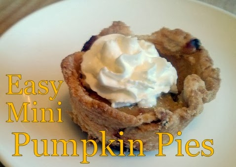 Sandy Toes Creations: Easy Mini Pumpkin Pies