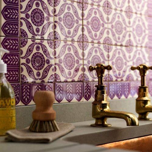 Theme design purple and gold color combination before for Purple and yellow bathroom ideas