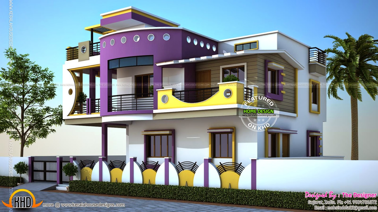 House exterior designs in contemporary style kerala home for One floor house exterior design
