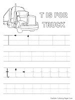 Truck Free Printable Alphabet Tracer Pages