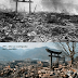 What is the standing arch in Nagasaki made of?