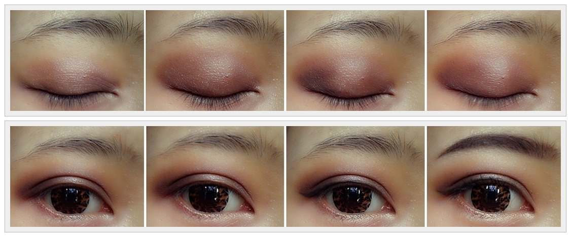 Start with a clean and primed eyelid, i'm apply shimmery light ...