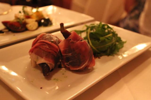 Prosciutto-wrapped figs at Ristorante Massimo, Portsmouth, N.H.