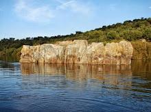 Formação rochosa no Guadiana