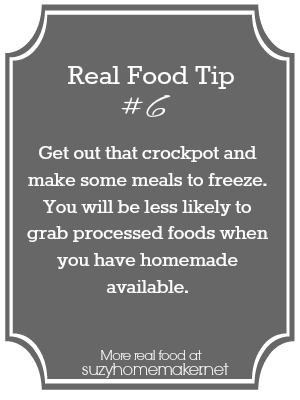 real food tip 6: crockpot freezer meals - suzyhomemaker.net