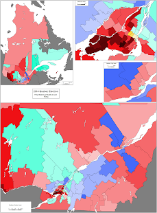 Quebec 2014 election map