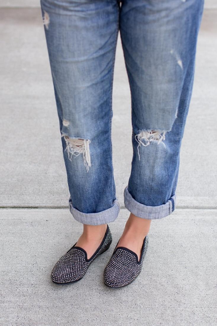 Express Boyfriend Jeans Medium Wash